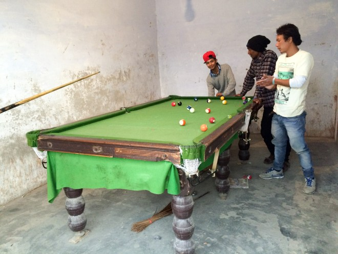 Billiards is a hit in the mountains