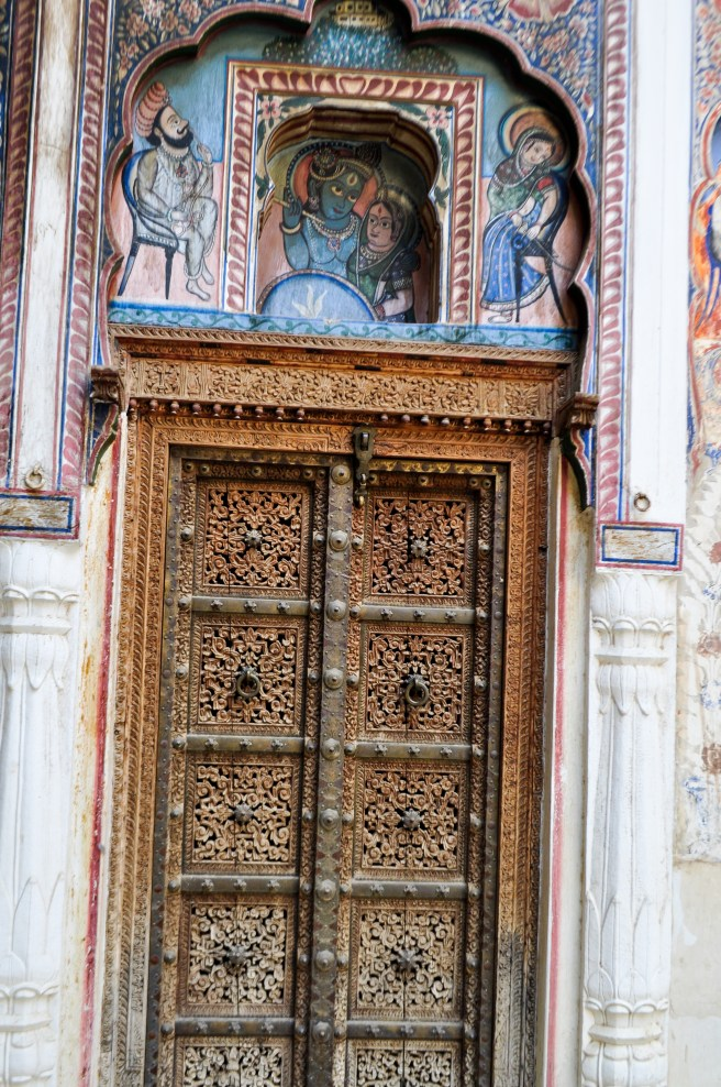 Artistic doors such as these are increasingly being taken away to be sold as antiques