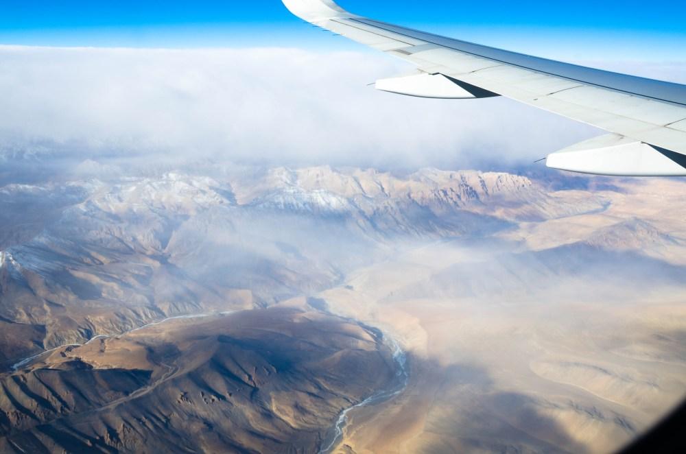Ladakh flight in winter