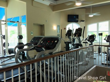Second level fitness area