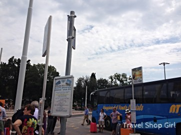 In Piazzale Roma there are two buses to go to the airport: Marco Polo airport or Treviso and no -- they're not the same