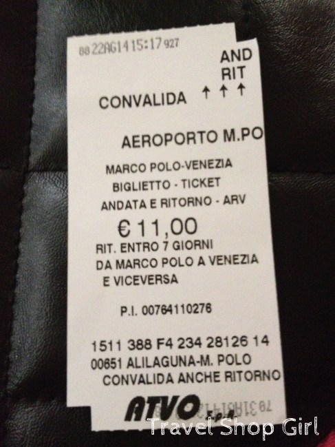 My round trip ATVO ticket