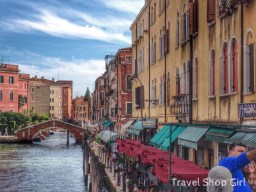 Standing on the bridge by Hotel Arlecchino looking down the canal in the opposite direction