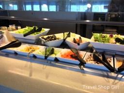 Salad options on the salad bar
