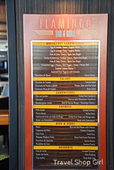 Flamingo Bar & Grill Menu