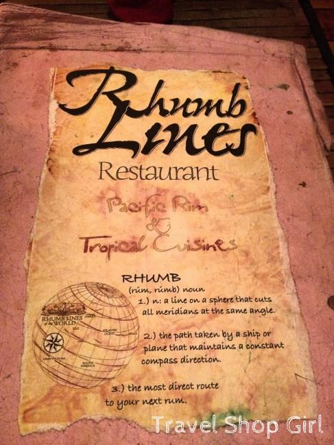 Rhumb Lines menu