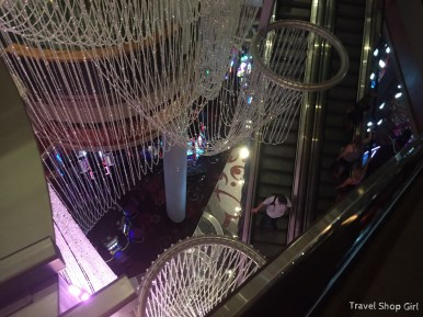 Looking down toward The Chandelier bar