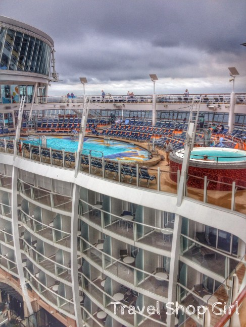 Sports pool on deck 15