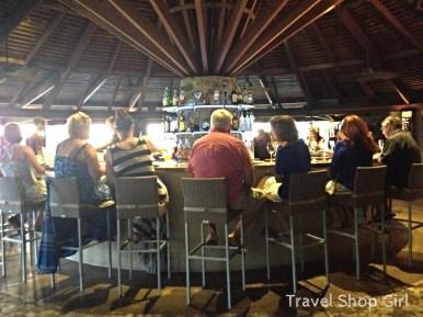 Circular bar at the center of the restaurant