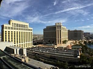 Looking toward Bellagio from balcony