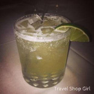 Cilantro cucumber infused tequila in my Margarita