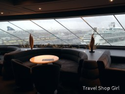MSC Yacht Club Top Sail Lounge while in port in Venice