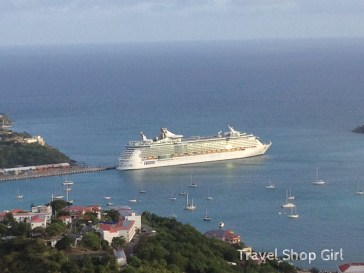 Freedom of the Seas leaving St. Thomas