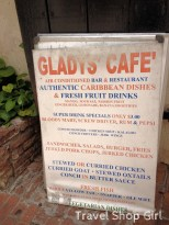 Gladys' Cafe menu board