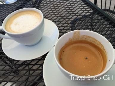 Small Cafe con Leche and Espresso at Buchi Cafe Cubano