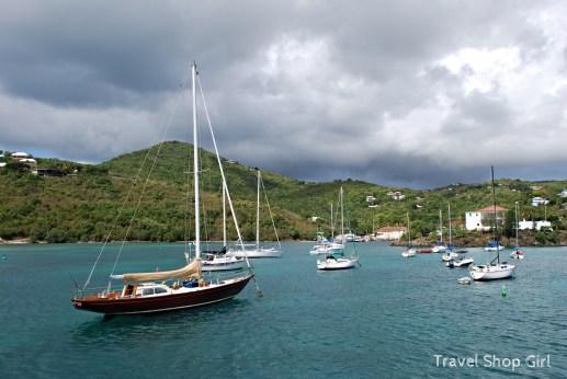 Sailboats in St. John