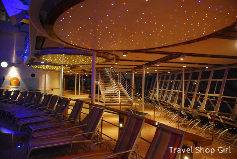 So glittery at night on deck 15
