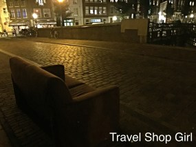 Random bridge couch over the canal