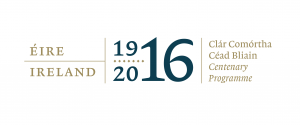 The official logo of the 1916 centenary programme, marked by events all over the country, but particularly in Dublin, where the rising took place.