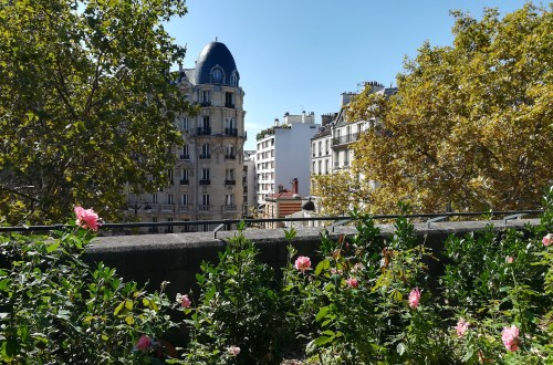 A view over Paris from the Promenade Plantée or Coulée Verte