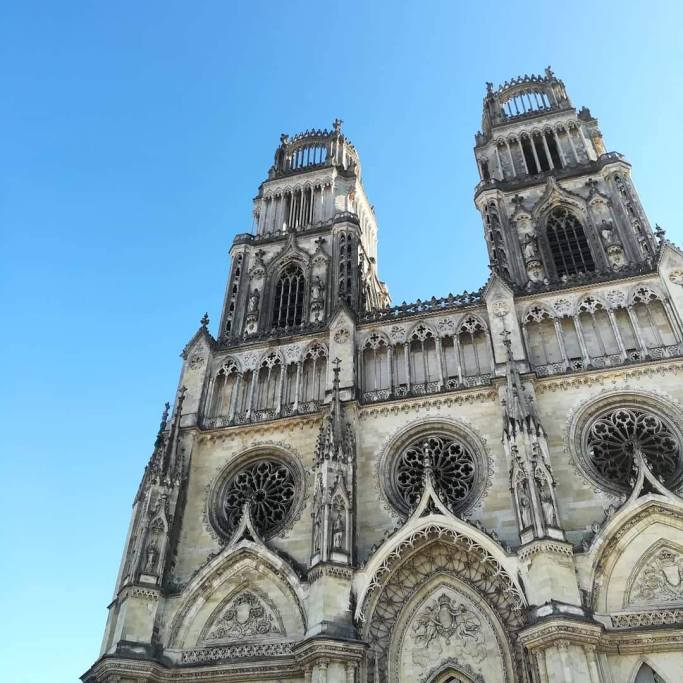 The top of the Cathedral in Orléans, France