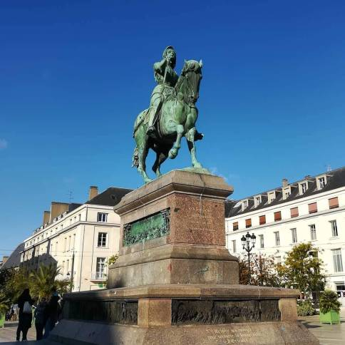 Place du Martroi, Orléans, with a statue of Joan of Arc