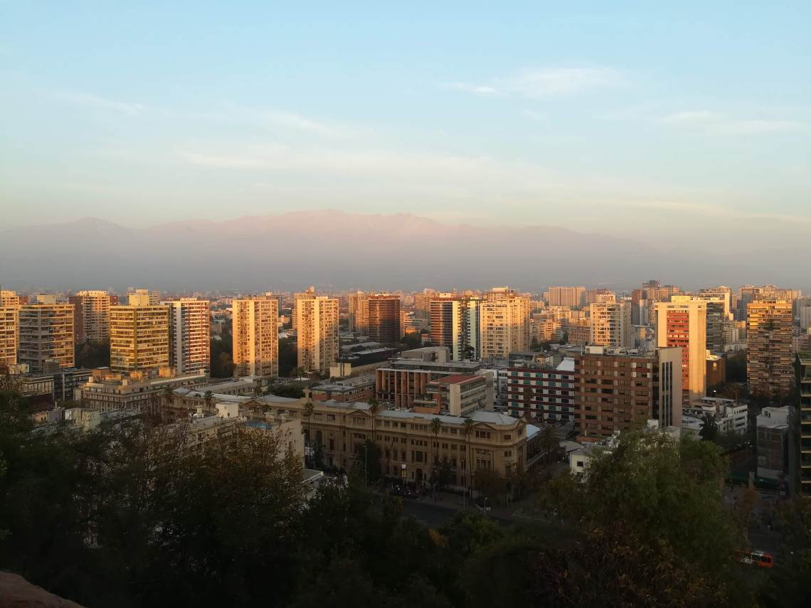 Santiago de Chile from above