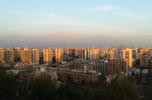 Santiago de Chile from above