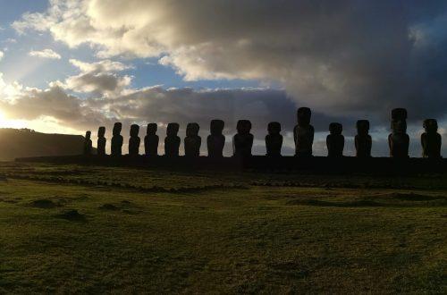 Tongariki Moai on Easter Island