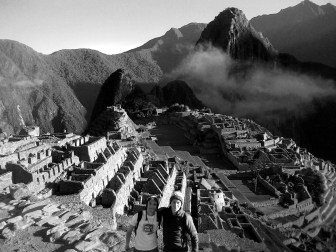 At Machu Picchu, truly one of the wonders of the world