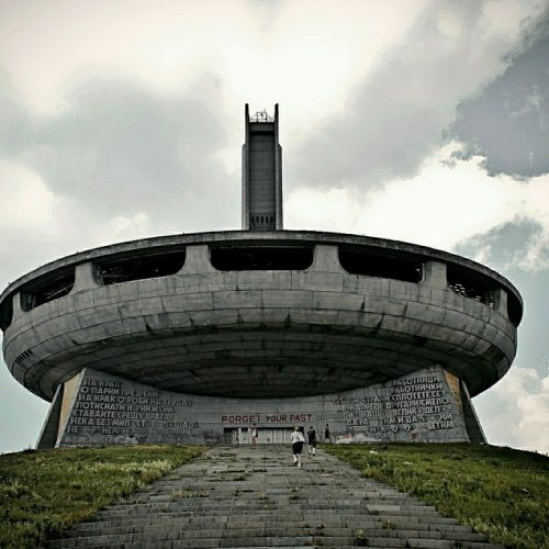 Buzludzha monument ufo historical peak Central Balkan Mountains, Bulgaria