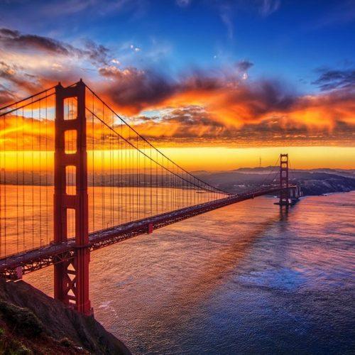 Golden Gate Bridge - San Francisco-sunset