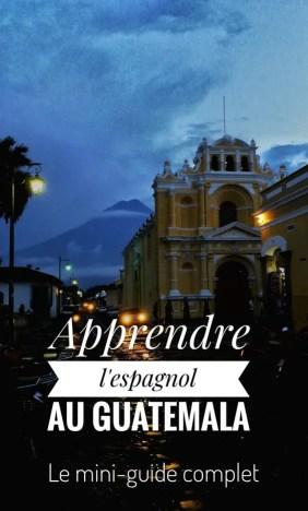 image pour apprendre l'espagnol au Guatemala qui montre la ville d'Antigua.