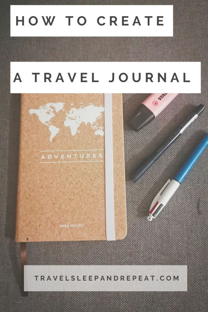 this is the cover of my article about how to creat the perfect travel journal.