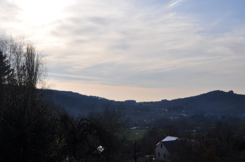 A view over the valley and the village.