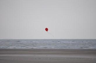 Balloon, Red, Beach