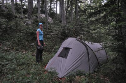 """camp up just in time before darkness. """"Was that a bear??"""""""