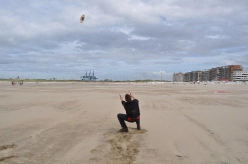 Zeebrugge, Kiting, Beach