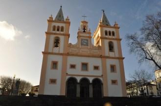 The cream colored church.
