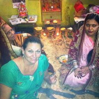 Amy at home in Varanasi