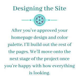 Designing the Site - Virtual Assistant Extraordinaire