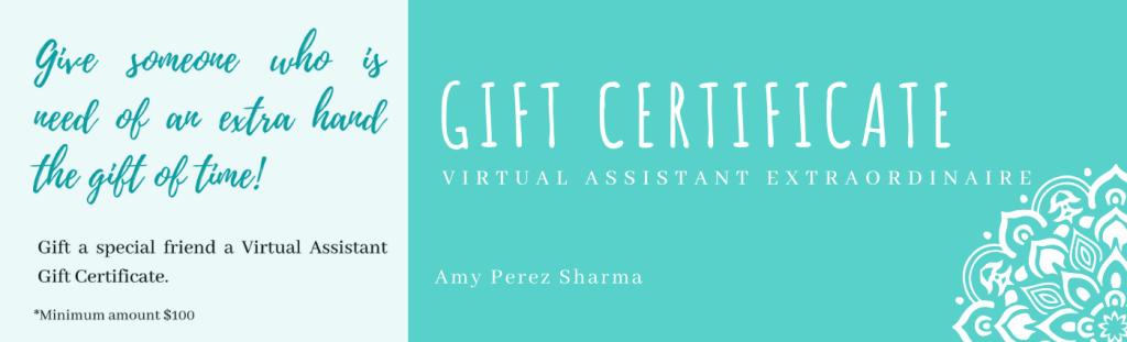 Gift Certificate - Expert Virtual Assistant Extraordinaire