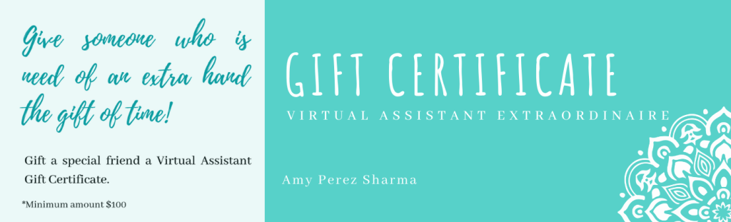 Gift Certificate - Expert Virtual Assistant Extraordinaire
