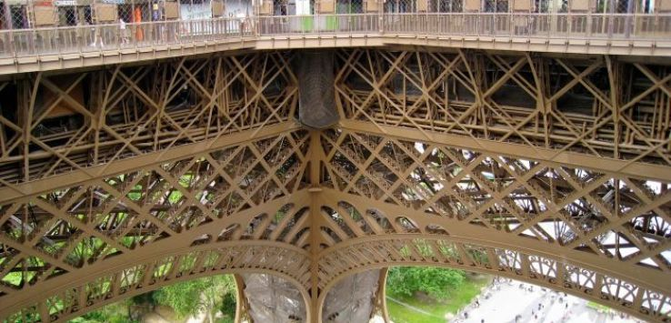 Corner of first level of Eiffel Tower