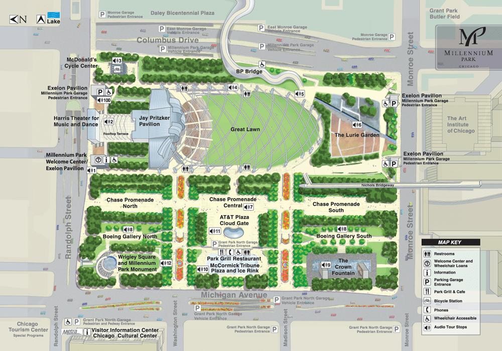 Millennium Park Map-Chicago