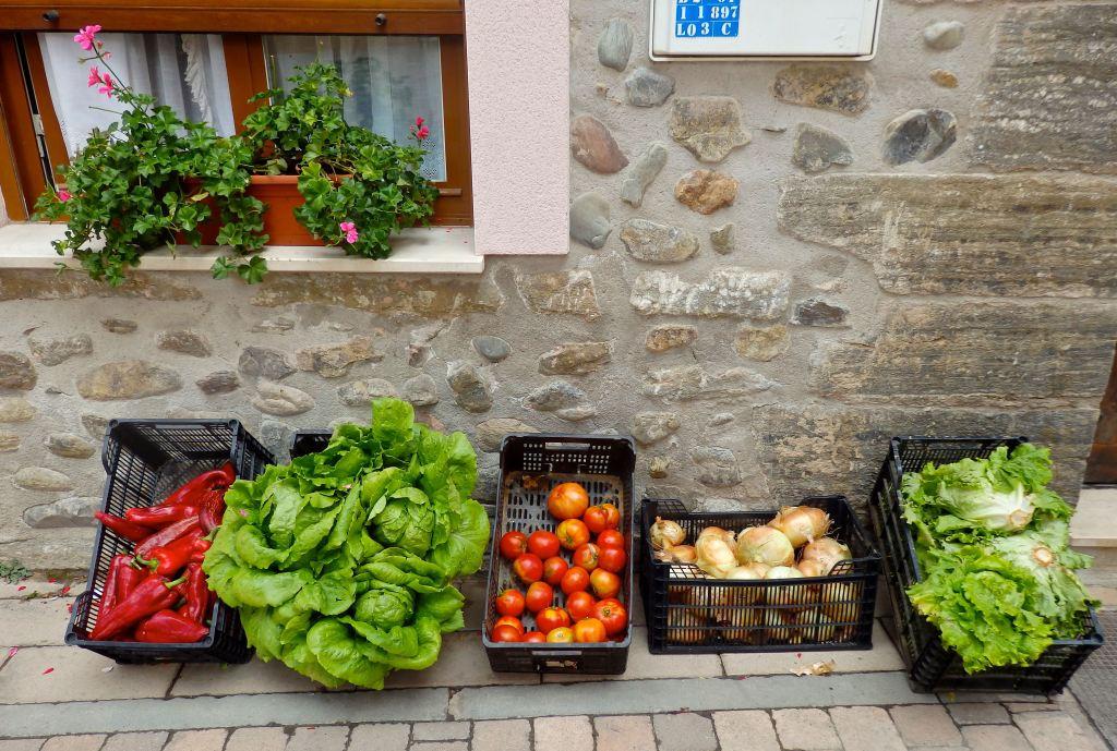 A gardener sells his bounty in Spain