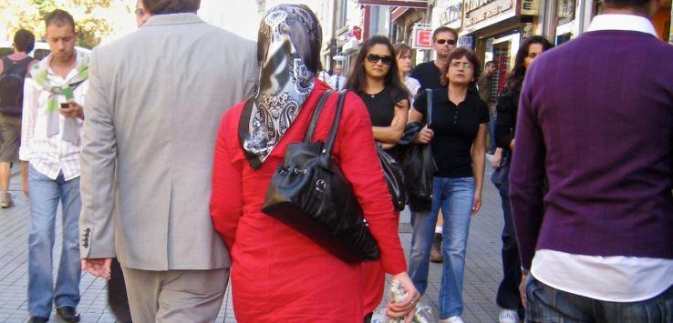People of Istanbul-Couple walking