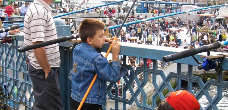 People of Istanbul-Father and son fishing