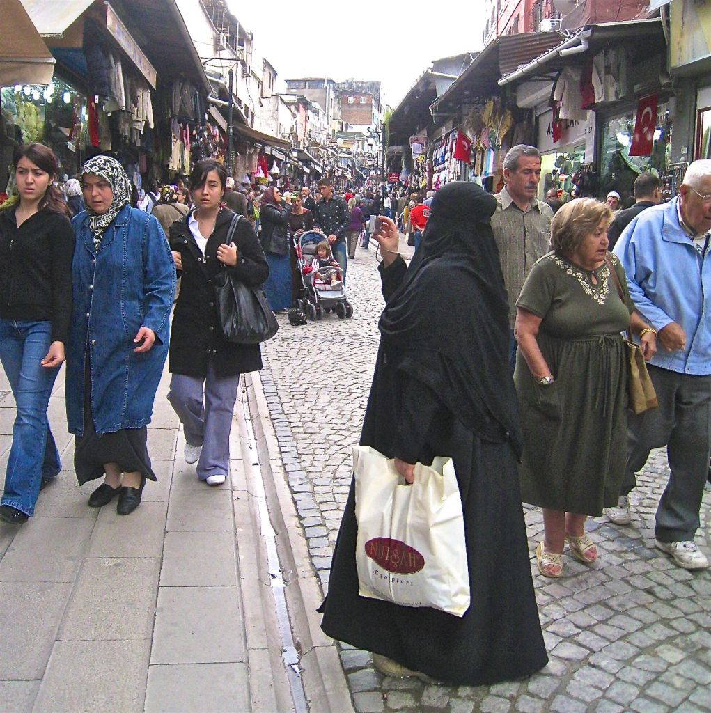 People of Istanbul-Woman in burqa