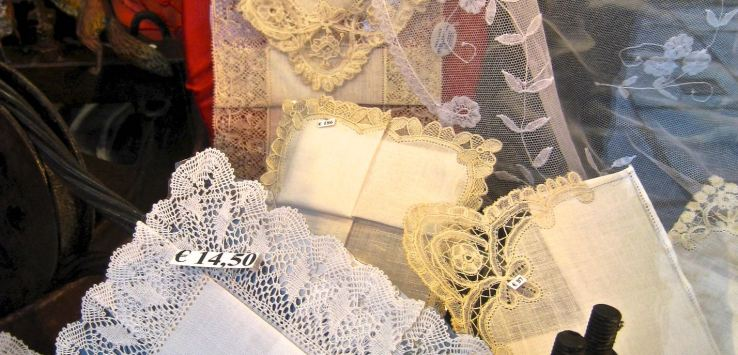 Window shopping: Lace linens in Belgium